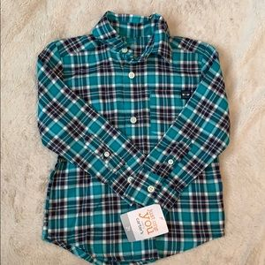 NWT Boys Carter's Just One You button down shirt